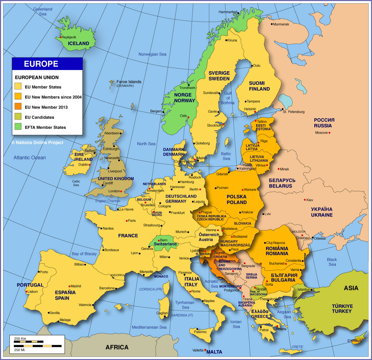 map of the eu